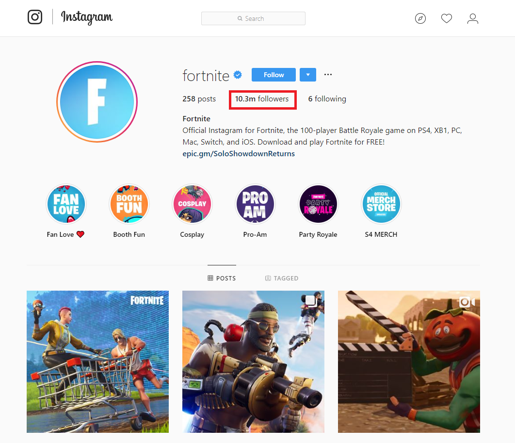 Fortnite Hashtags (to copy and paste) on Instagram that will