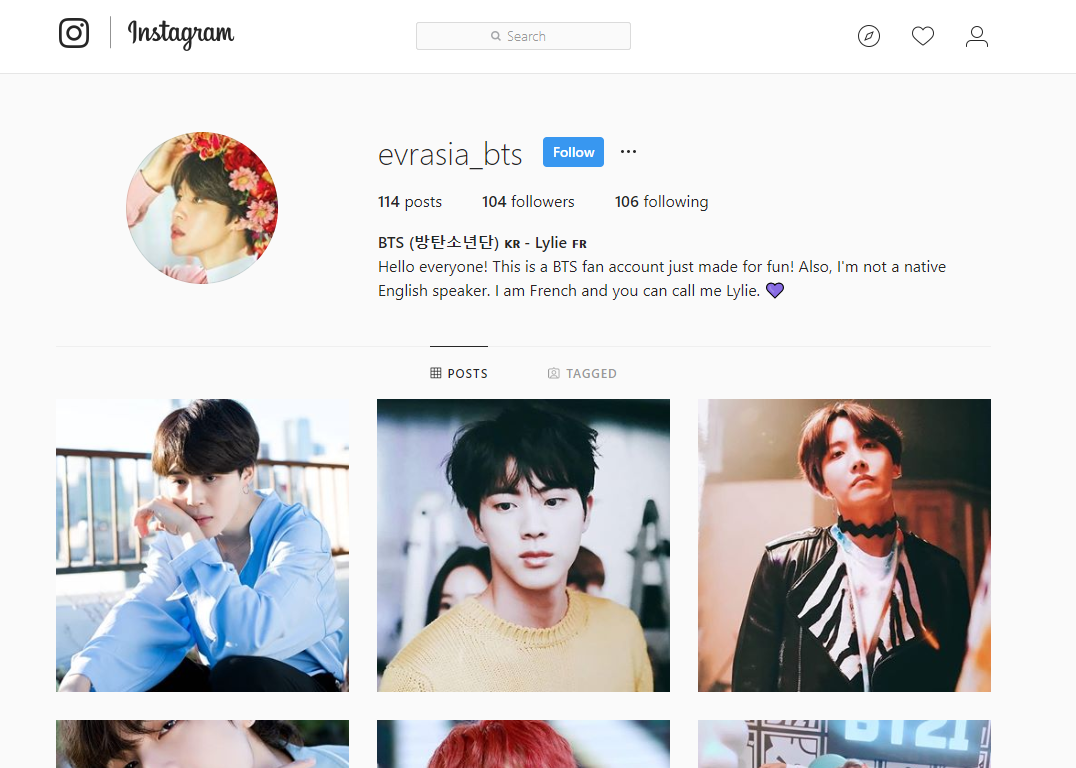 BTS Hashtags (to copy and paste) on Instagram that people