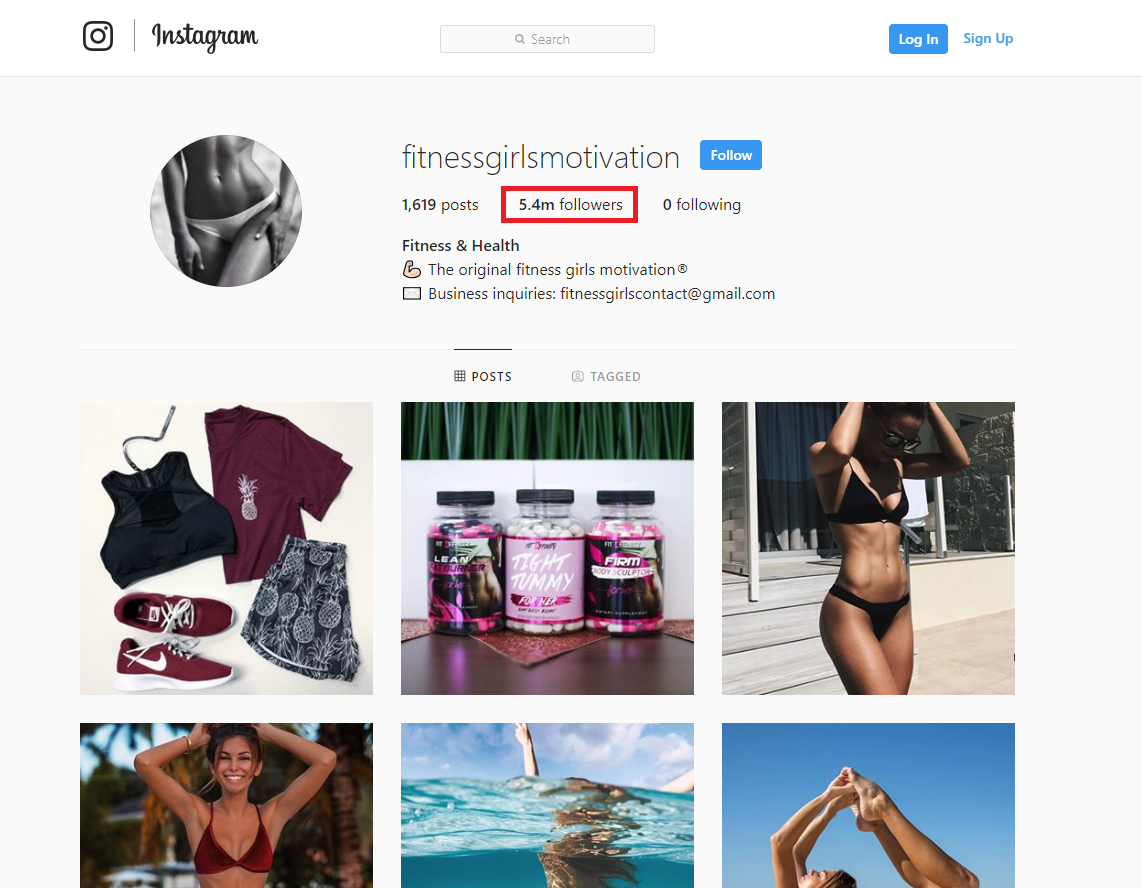 how to grow a fitness page on Instagram 1